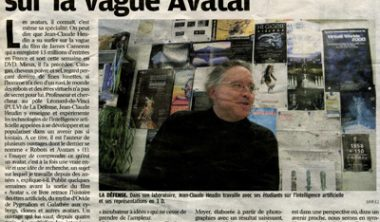 "2010 04 24 interview le parisien 380x222 - ""Robots et avatars"" : une interview de Jean-Claude Heudin dans le journal ""Le Parisien"""