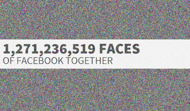 facesoffacebook1 - 1,2 milliards de photos de profils facebook ... sur une page web : Face of Facebook