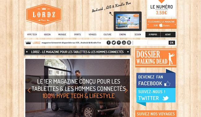 iim lordz magazine - Lancement de LORDZ, un magazine 100% digital avec un site Internet 100% Made by IIM