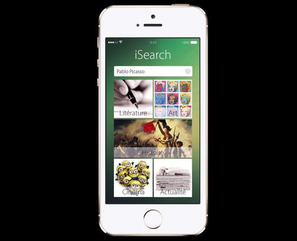 iim apple gallery project isearch - Apple Gallery iSearch, projet fictif d'étudiants en année préparatoire