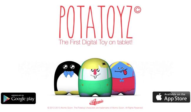 iim potatoyz atomic soom - L'application mobile Potatoyz lauréat du prix du jury aux Wouap Doo Apps Jeunesse 2014