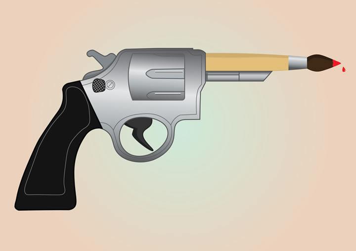 Pistolet Margaux Jason - Adobe Illustrator : atelier customisation en première année de Bachelor