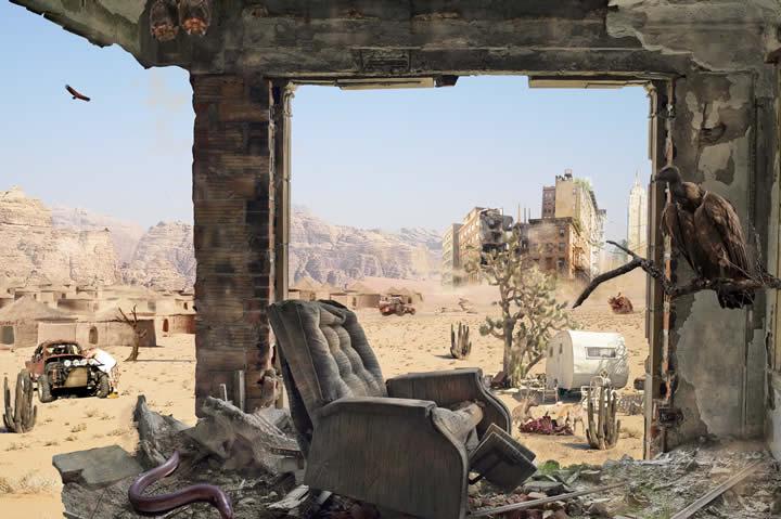 Ville dystopique Pierre munin GrG - Des villes imaginaires sorties tout droit du Photoshop des années préparatoires !