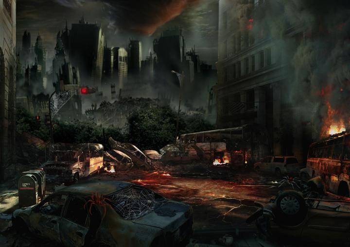 dystopia Arnaud Legrand - Des villes imaginaires sorties tout droit du Photoshop des années préparatoires !