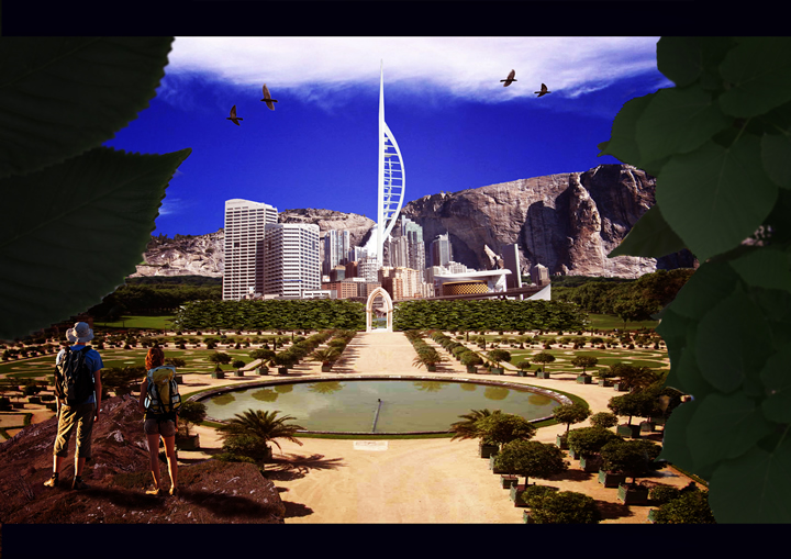 projet utopique Rémi Legras - Des villes imaginaires sorties tout droit du Photoshop des années préparatoires !