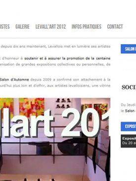 Levallart accueil 275x364 - Levall'art : un site dédié aux artistes de Levallois