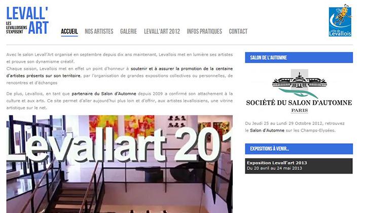 Levallart accueil - Levall'art : un site dédié aux artistes de Levallois