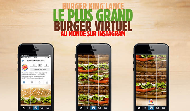 burger king instagram - Comment les marques utilisent Instagram : le web de l'image ?