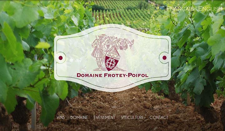domaine frotey - Le site vitrine du Domaine Frotey Poifol par les étudiants de l'axe Web et e-business