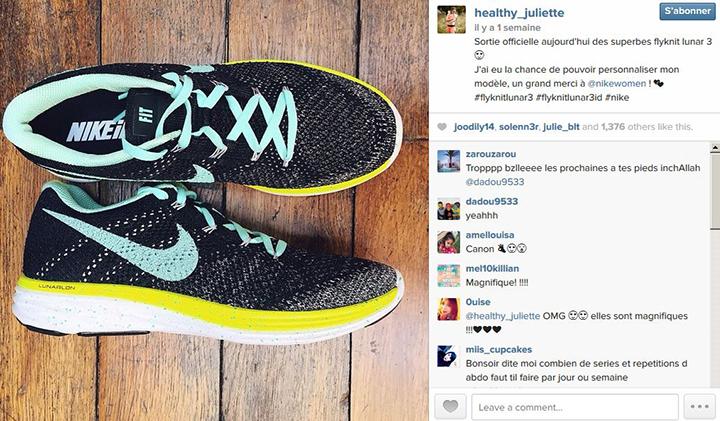 """@Healthy_juliette, blog sain et sport """"sponsorisé"""" par Nike"""