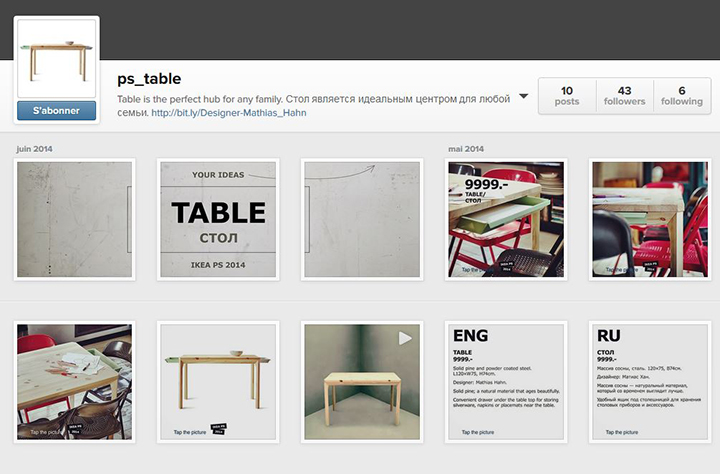 La page tables d'Ikea