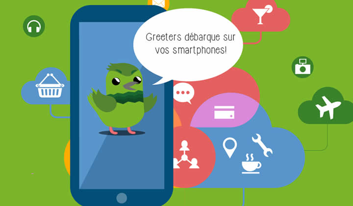 greeters smartphones - Greeters Paris, application mobile