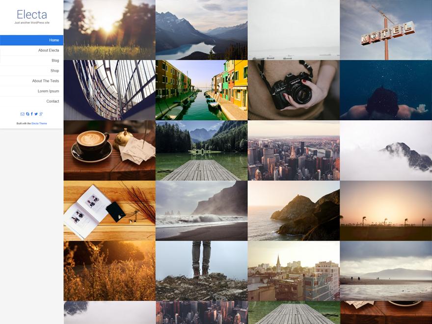 electa - Une sélection de thèmes wordpress gratuits pour créer simplement vos portfolios