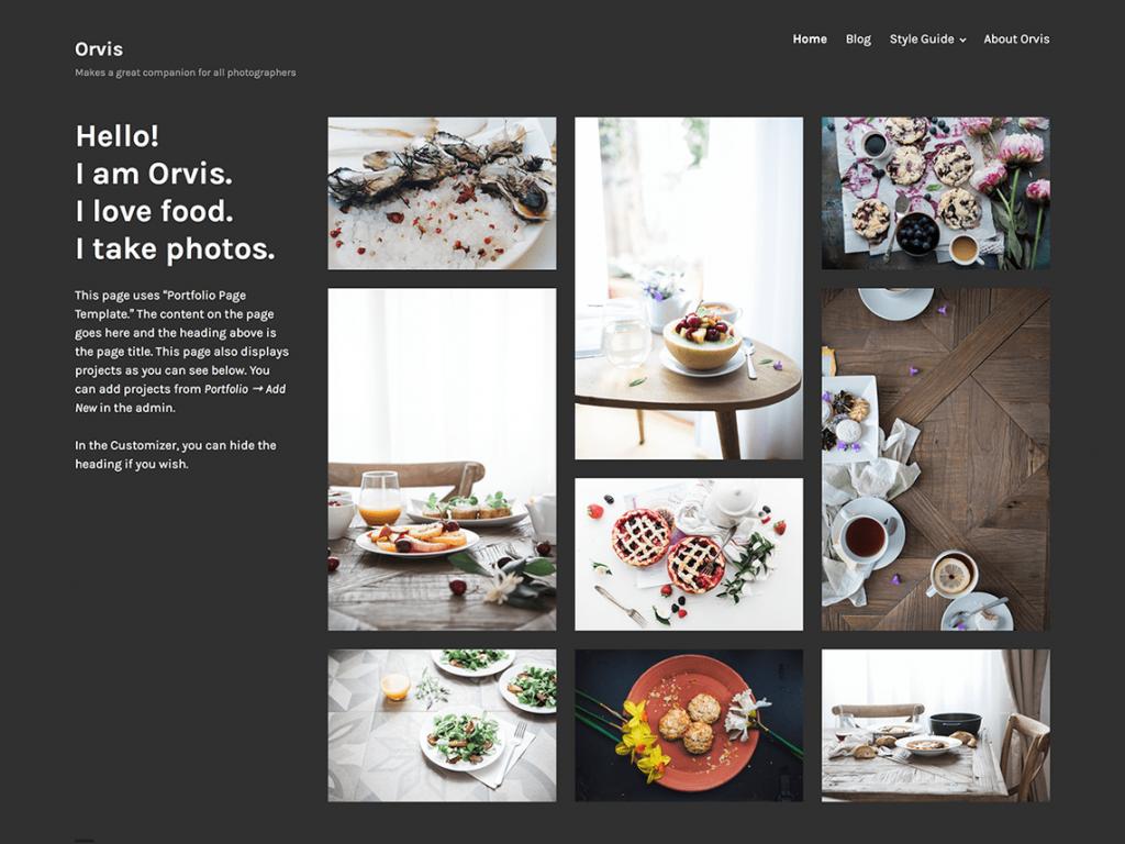 orvis 1024x768 - Une sélection de thèmes wordpress gratuits pour créer simplement vos portfolios