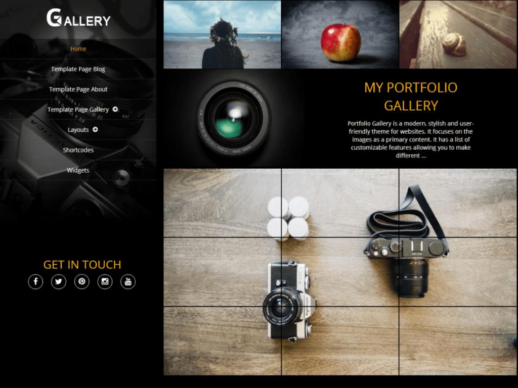 portofolio gallery 1024x768 - Une sélection de thèmes wordpress gratuits pour créer simplement vos portfolios