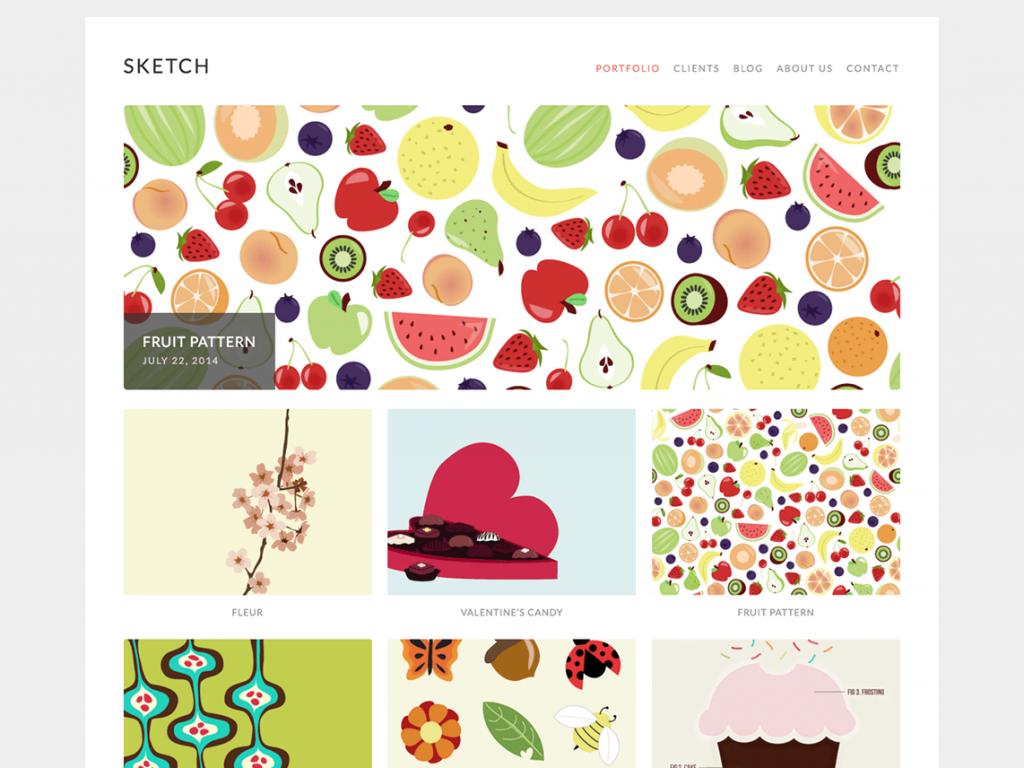 sketch 1024x768 - Une sélection de thèmes wordpress gratuits pour créer simplement vos portfolios