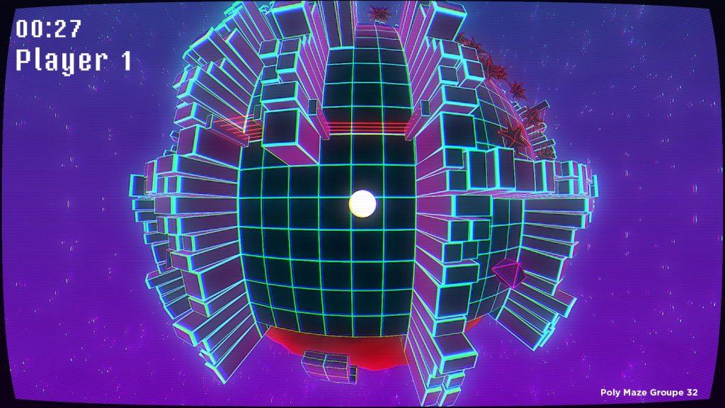 polymaze 1024x576 - Poly Maze, jeu de plateforme et de réflexion, remporte le prix du meilleur projet de cinquième année de l'axe Jeu Vidéo