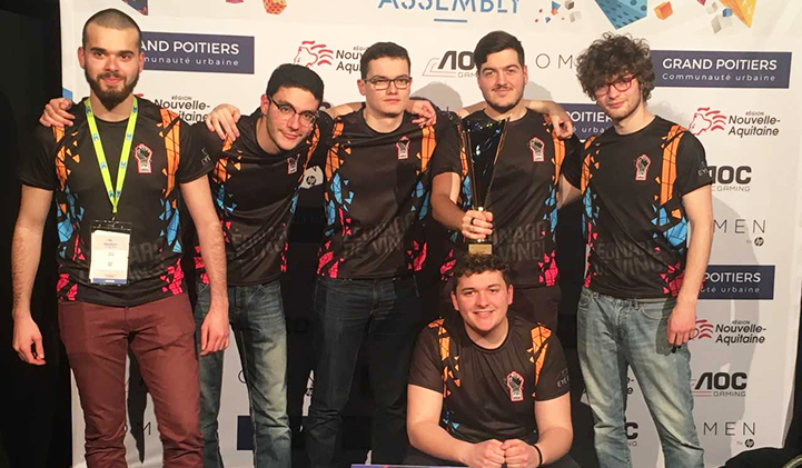 E sport student association won the Overwatch competition at the Gamers Assembly