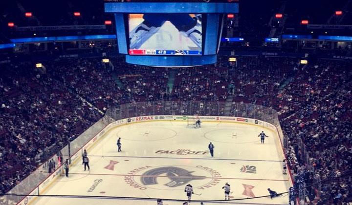 Match de Hockey - Étudier au Canada : Christelle, promo 2019, en échange à Vancouver
