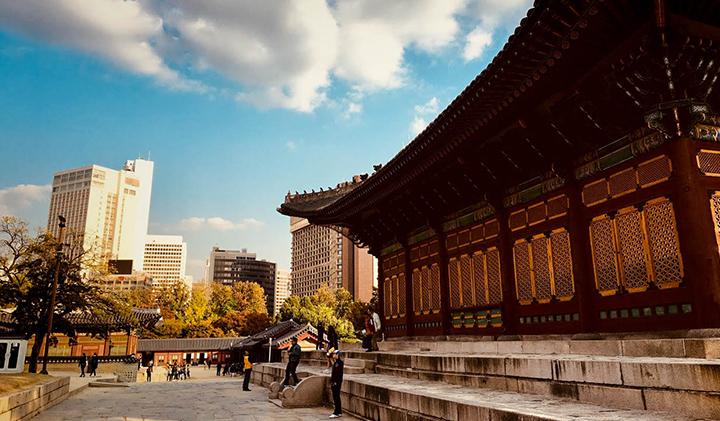 Contraste entre lancien et le nouveau - Étudier en Corée : Sébastien, promo 2019, en échange à Kyonggi University
