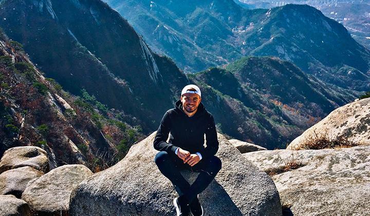 Mont Bukhansan Seoul 2 - Étudier en Corée : Sébastien, promo 2019, en échange à Kyonggi University