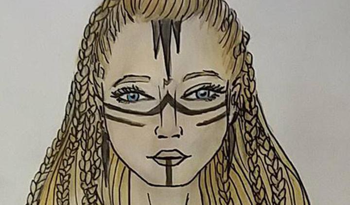 """dessin portrait femme - Louise, promo 2022, créatrice de """"Bullet journal"""""""
