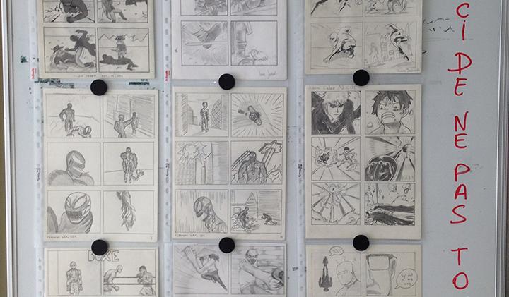 module storyboard deuxieme année - Créer un storyboard grâce au dessin d'anatomie et à l'étude du mouvement