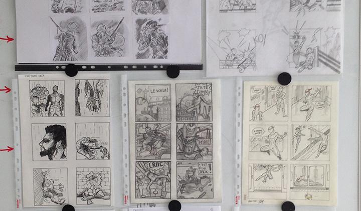 storyboard combat module - Créer un storyboard grâce au dessin d'anatomie et à l'étude du mouvement