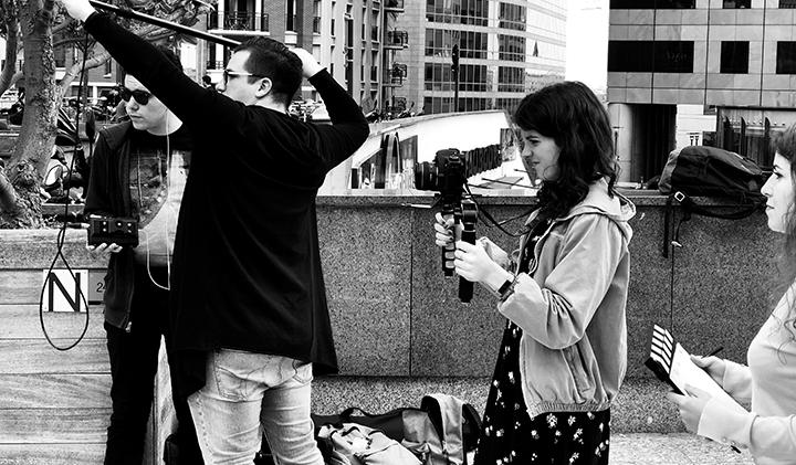 tournage son man vs pulv - Tourner et monter un court métrage en une semaine