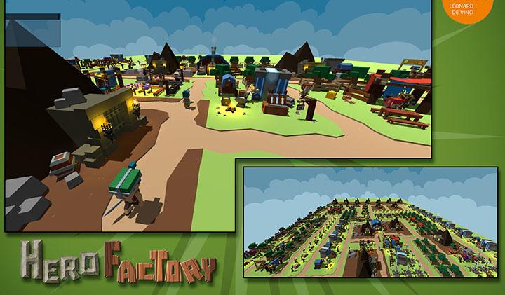 hero factory jeu poster - Showroom projet : Hero factory, jeu de gestion, remporte le premier prix de la promo 2019