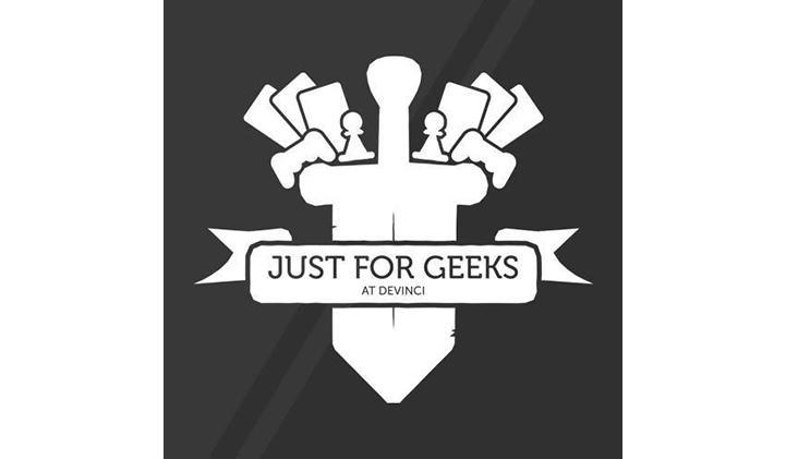 Logo just for geeks pôle léonard de vinci