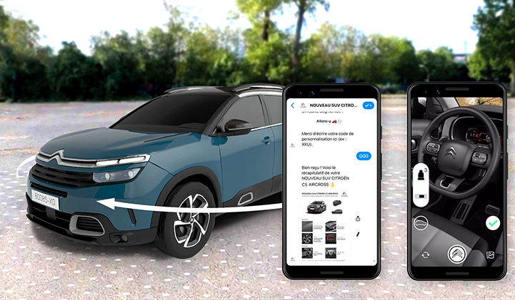 Citroen SUV C5 aircross Atomic Digital Design  - L'agence Atomic Digital Design réalise la toute première expérience en réalité augmentée sur Messenger
