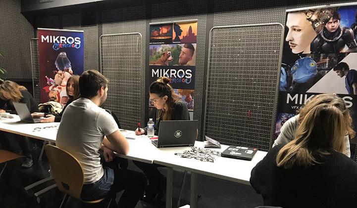 PIDS 2019 job fair mikros - PIDS 2019 : Les étudiants de l'axe Animation 3D rencontrent les professionnels de la création numérique