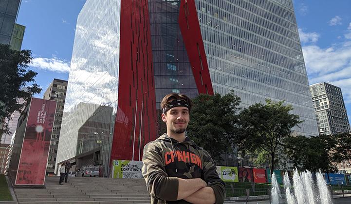 echange universitaire animation 3D IIM quebec NAD montreal canada - Téo, promo 2022, en échange universitaire à l'école NAD à Montréal