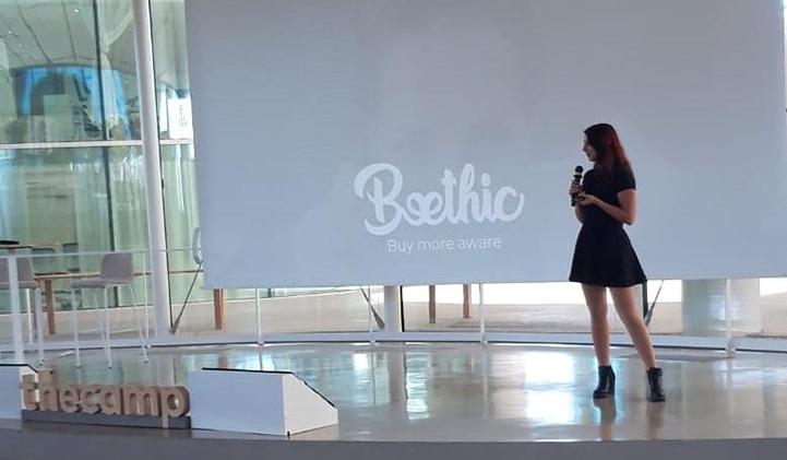 thecamp julie beethic startup iim - Julie, promo 2019, présente sa startup BeEthic à thecamp, le campus des innovateurs