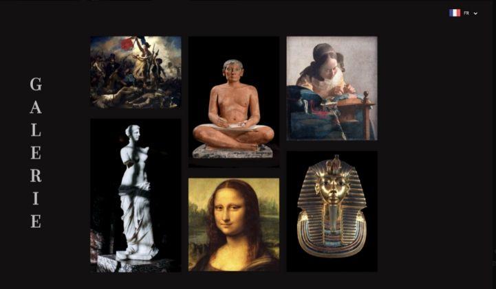 devlab developpement web font louvre - Projet DevLab : progresser en développement front en faisant un site fictif sur le musée du Louvre