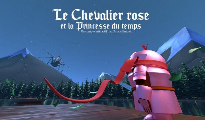 le chevalier rose et la princesse du temps iim animation 3d - Bourse aux Projets 2020 : développer un conte interactif en 3D pour smartphones et tablettes
