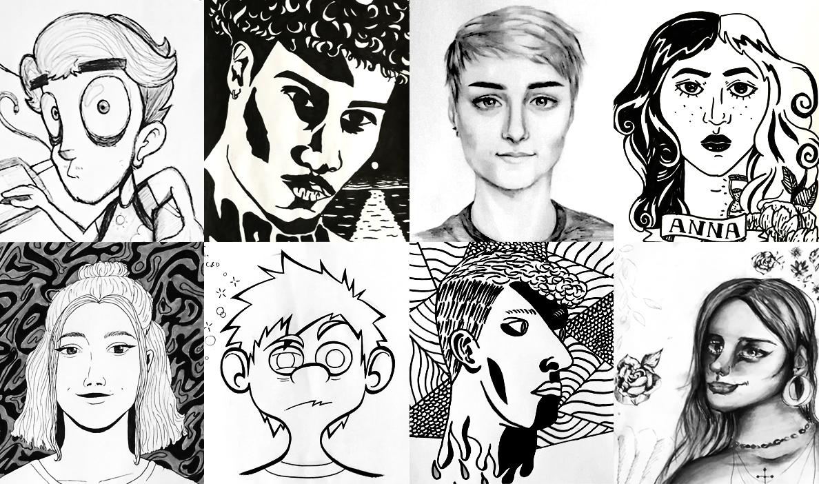 autoportraits iim creation design - Session d'autoportraits au programme de la journée d'intégration de l'axe Création & Design