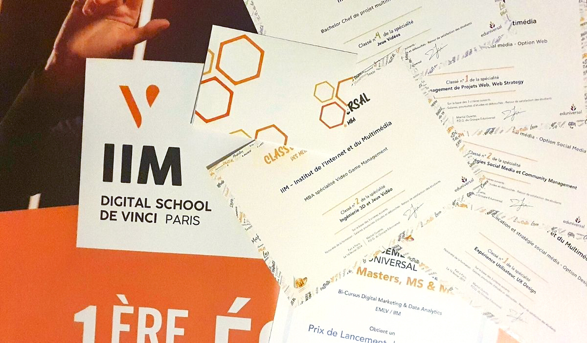 classements iim eduniversal grandes ecoles digital 2021 - Les bachelors IIM progressent dans les classements Eduniversal 2021