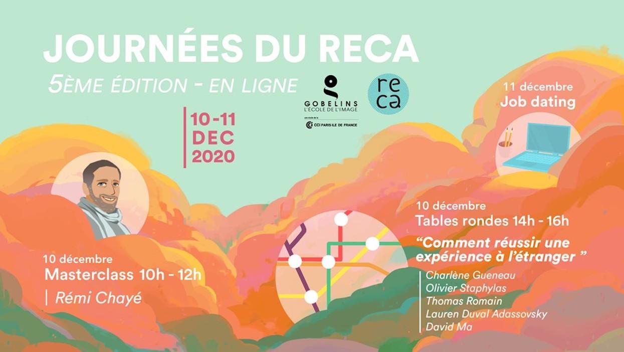 journees reca - Les étudiants de l'axe Animation 3D à la 5ème édition des Journées du RECA