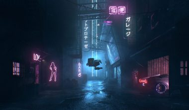 cyber punk alley 1 380x222 - Bachelor Animation 3D