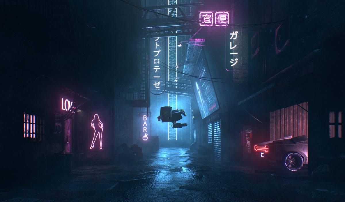 cyber punk alley 1 - CyberPunk Alley, un projet 3D d'étudiants de l'IIM réalisé en seulement 2 semaines