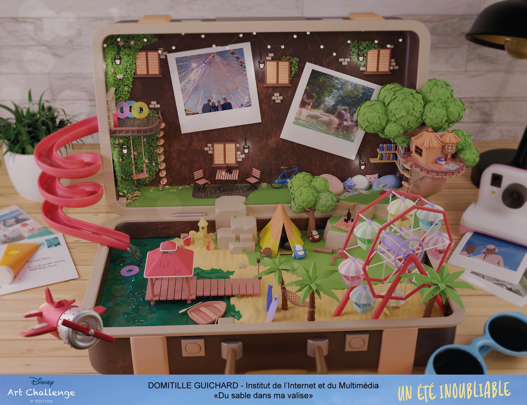 """disney art challenge domitille - Disney Art Challenge Saison 9 : Domitille, promo 2023, finaliste avec son projet """"Du sable dans ma valise"""""""